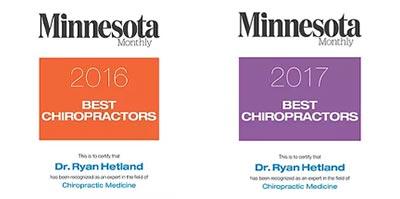 Chiropractic Inver Grove Heights MN Best Chiropractor Badges